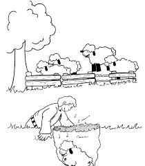 coloring pages preschoolers parable lost sheep kids coloring