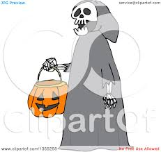 cartoon halloween images clipart of a cartoon halloween skeleton wearing a hood and
