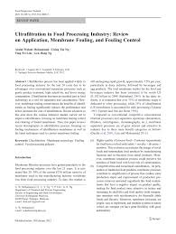 ultrafiltration in food processing industry review on application