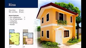 rina model house video camella homes youtube