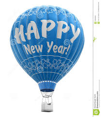 happy new year balloon hot air balloon with happy new year clipping path included stock