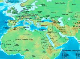 The Alps On World Map by Near East In 500 Ad Sabirs And Neighboring Peoples Maps Of