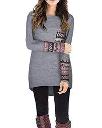 gray blouse styleword s sleeve neck patchwork casual t
