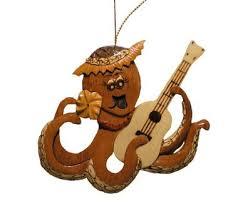 hawaiian style handmade wood ornament octopus with