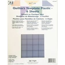 Plastic Template Sheets Quilting Quilter S Template Plastic Assortment 6 Sheets