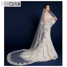 wedding veils for sale wedding accessories hot sale 3 metres one layer lace bridal