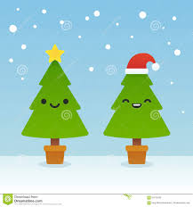 cute trees cartoon christmas trees stock vector image 61616160
