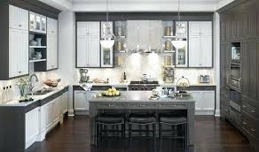 Tiled Kitchen Worktops - grey grout white tiles kitchen light worktop gray floor cabinets