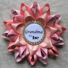 grandma to be pin personalized baby shower corsage new grandma