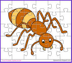 free printable jigsaw puzzle game ant jigsaw puzzle