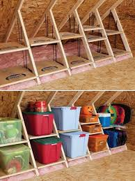 Build Wood Shelves Your Garage by Creative Attic Storage Ideas And Solutions Attic Rooms Attic