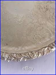 engraved platter vintage silver plate vintage barker ellis silverplate 10