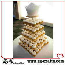 online get cheap acrylic wedding cake stands 6 tier square