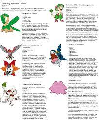 a utility pokemon guide for oras geek pokemon pinterest