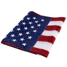 5 u0027 x 8 u0027 us american embroidered flag flags u0026 windsocks decor