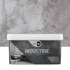 leroy merlin deco chambre peinture à effet industrie maison deco gris alliage 4 kg