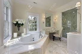 Bathroom Luxury by Master Bath In Luxury Home With Step Up Tub Stock Photo Picture