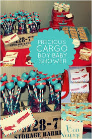 precious cargo themed boy baby shower spaceships and laser beams