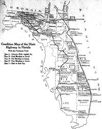 Florida Map Cities The Dixie Highway Comes To Florida The Florida Memory Blog