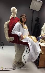 Mummy Halloween Costume Cleopatra Carried Mummy Illusion Costume Cleopatra