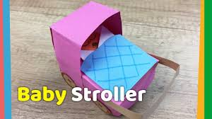 creative craft for kids diy paper baby stroller youtube