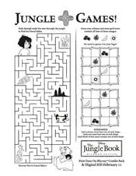 printable activities children s books disney s jungle book free printables activities coloring pages and