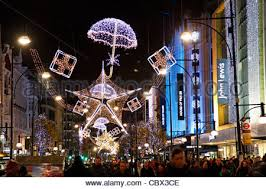 Christmas Decorations Oxford Street - umbrella christmas lights illuminations and decorations on the