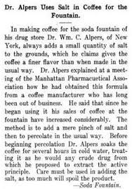 Salt In Coffee The Dossiers U2013 Salted Coffee