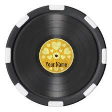 Personalized Record Album Record Poker Chips Zazzle