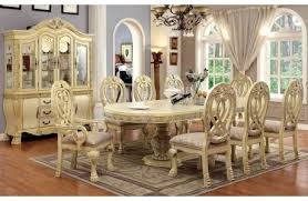 Antique White Dining Room Furniture Orleans Antique White Dining Table Set