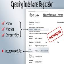 Letter Applying For Business Permit registration requirements for ontario operating trade names