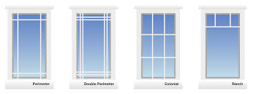bay window window grille options perimeter double perimeter colonial ranch