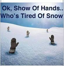 Snow Memes - how snow memes are helping me keep my sanity not always smiling