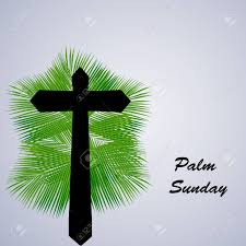palm leaves for palm sunday illustration of cross with palm leaves for palm sunday royalty