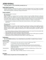 Resume Sample For Computer Programmer Sample Programmer Resume Attractive Programmer Resume Objective