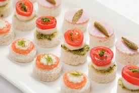 shoing canapé mixed canapes alistair hugo caterers office catering