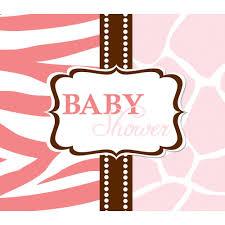 pink invitation card amazon com creative converting baby shower wild safari pink 25