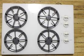 Ge Built In Gas Cooktop White Ge Profile Jgp336wev4ww Gas Cooktop Built In Burners Stove