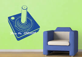 Gamer Home Decor Joystick New Design Gamepad Gamer Vinyl Adesivo Wall Teen Room