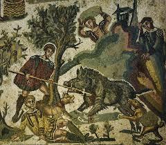 Mosaique Del Sur File Mosaïque De La Petite Chasse Villa De Casale Piazza