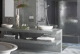 Gray And Brown Bathroom by Gray Bathroom Design Ideas Dark Tile Flooring Alcove Bathtub
