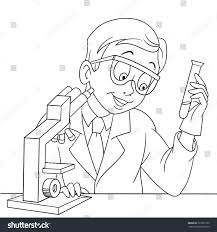 Coloring Page Chemical Scientist Test Tube Stock Vector 720567730 Coloring Page Of