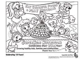 coloring pages about crew coloring pages nutrition for superkids