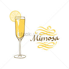 cocktail drawing mimosa cocktail vector image 1827115 stockunlimited