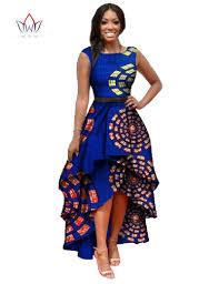ankara dresses clothes for women o neck embroidery bazin dress