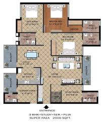 skyrise group housing floor plan 3bhk 2 dwarka smart city