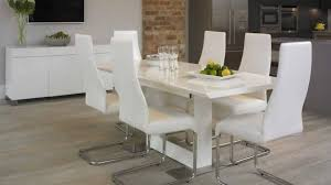 White Dining Room Table Set White Dining Room Table And Chairs Marceladick Modern Leather