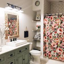 Bathroom Curtain Ideas For Shower Simple Decoration Shower Curtain Flowers Design Ideas Buy