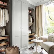 gray closet drapes design ideas