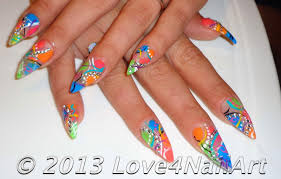 love4nailart abstract stiletto nail art design idea 2